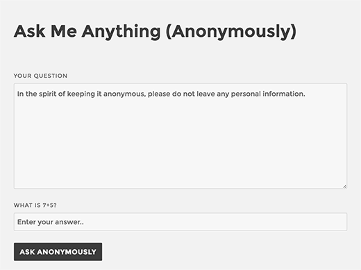 Ask Me Anything interface