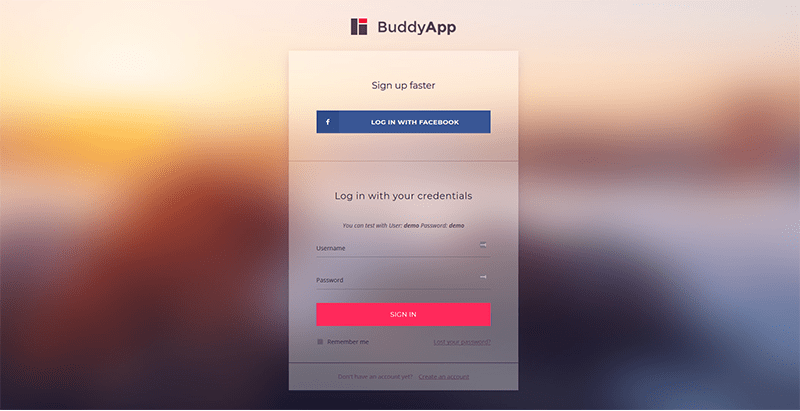 Buddyapp themes wordpress site web rencontres reseau social forum