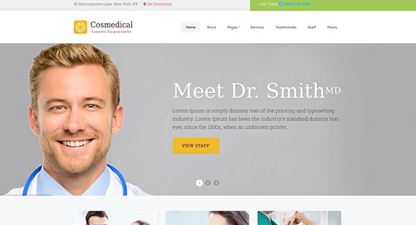 5 WordPress temas para website dental | BlogPasCher