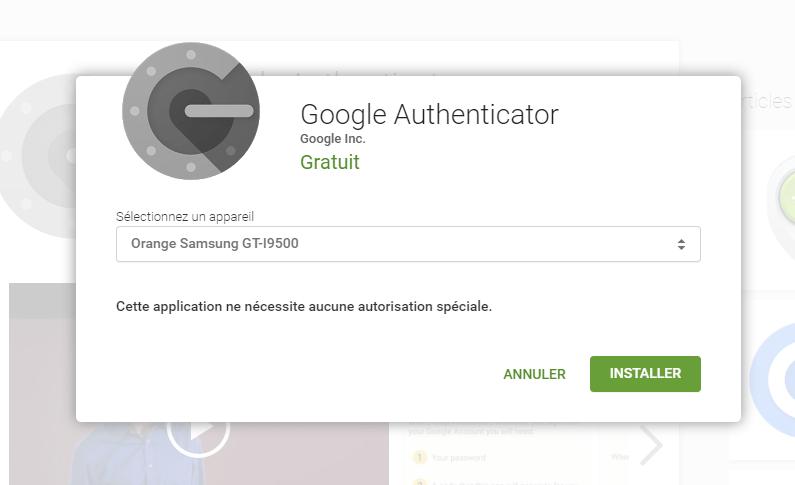 Installation Google Authenticator