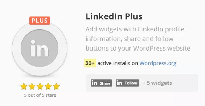 Linkedin plus plugin wordpress linkedin