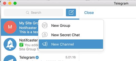 Новая Телеграмма канала для WordPress