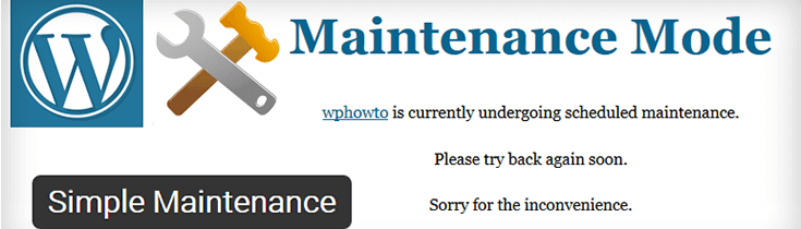 Simple_Maintenance WordPress плагин