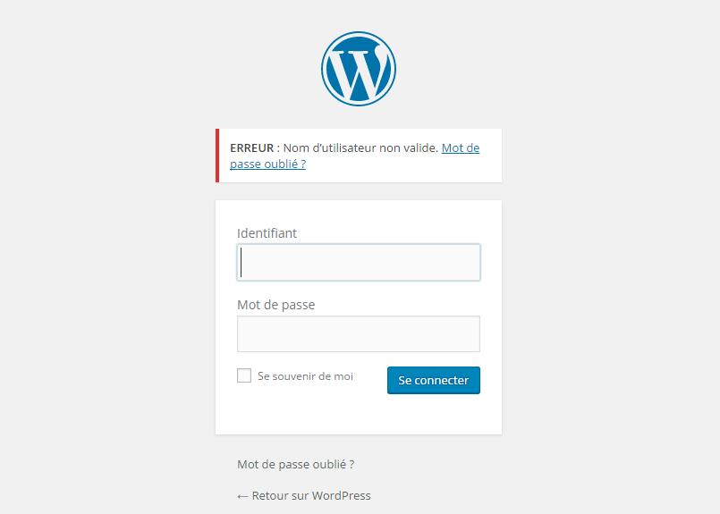 WordPress Ошибка соединения