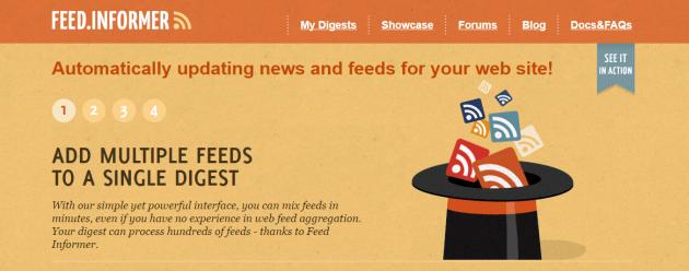 ferramenta de feed-informação para feed RSS