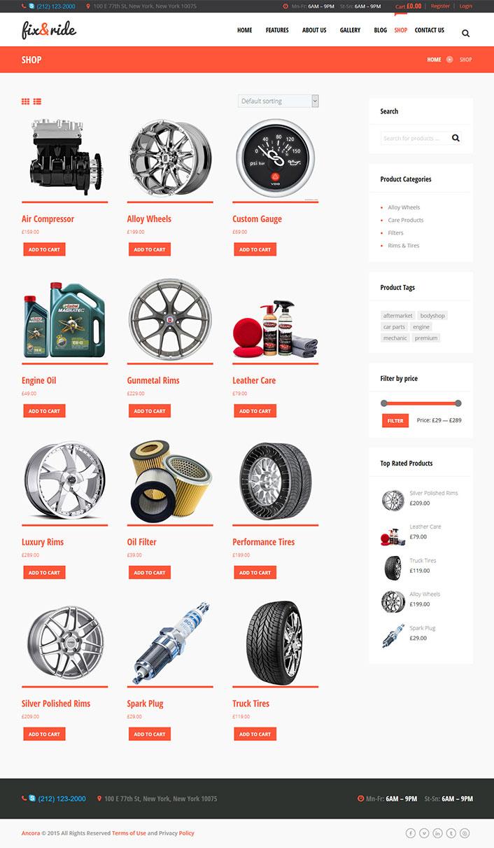 Fix ride un th me wordpress pour site de m canicien for Site internet pour garage automobile