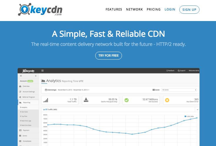 keycdn CDN для WordPress