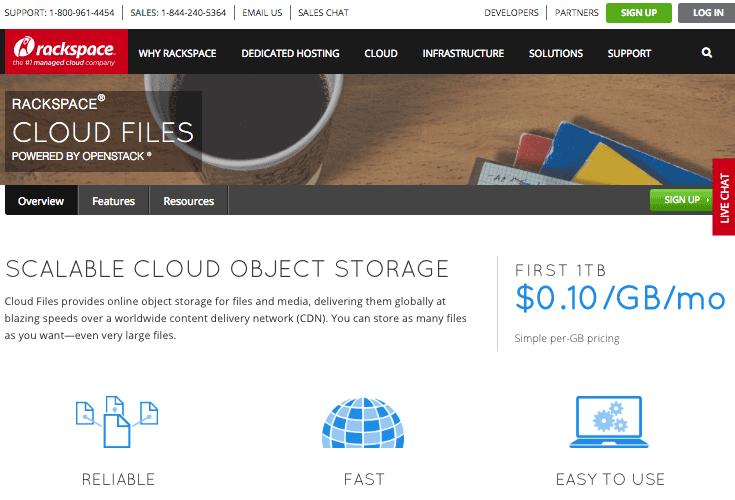 solução rackspace CDN para WordPress