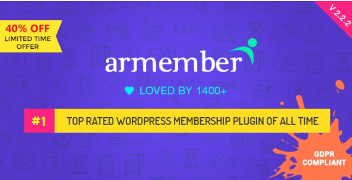 meilleurs plugins WordPress - ARMember WordPress Membership Plugin