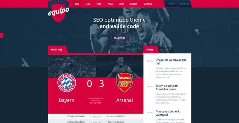 10 temas de WordPress para club deportivo | BlogPasCher