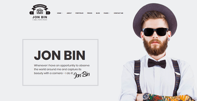 Jon bin theme wordpress freelance