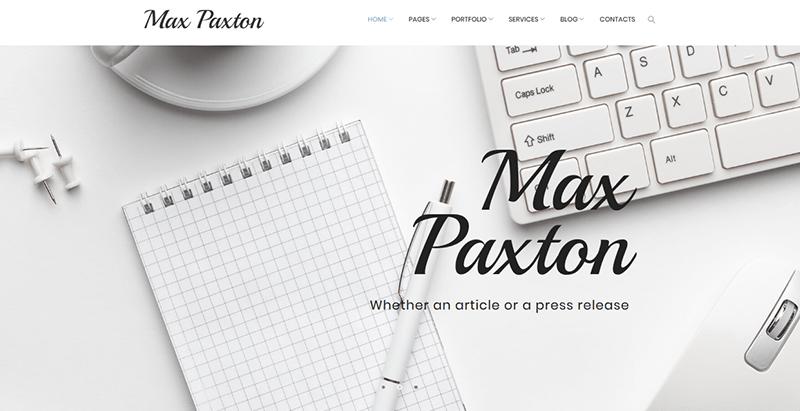 Maxpaxton theme wordpress freelance
