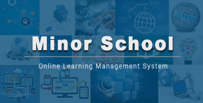 Minor school learning management system lms