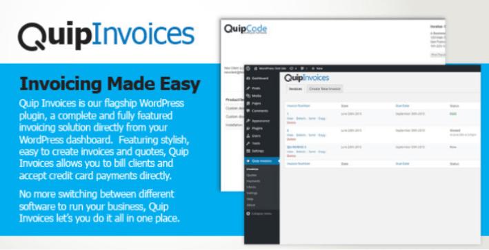 Quip invoices