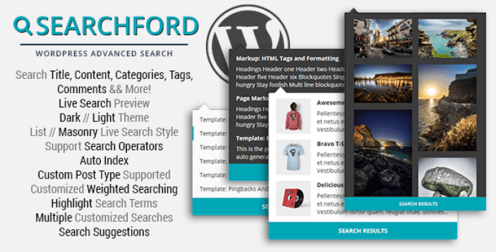 Searchford WordPress Расширенный поиск