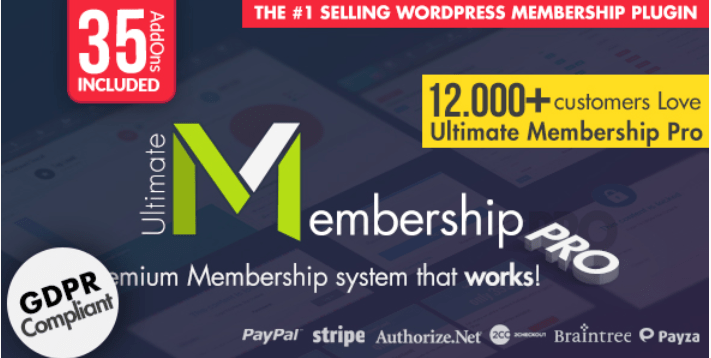 Ultimate Membership Pro WordPress 멤버십 플러그인