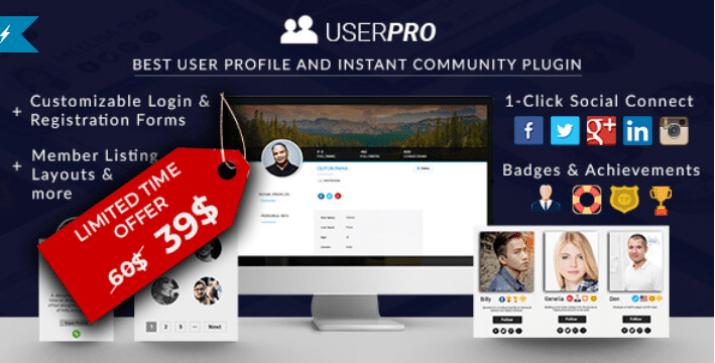Userpro community and user profile wordpress plugin