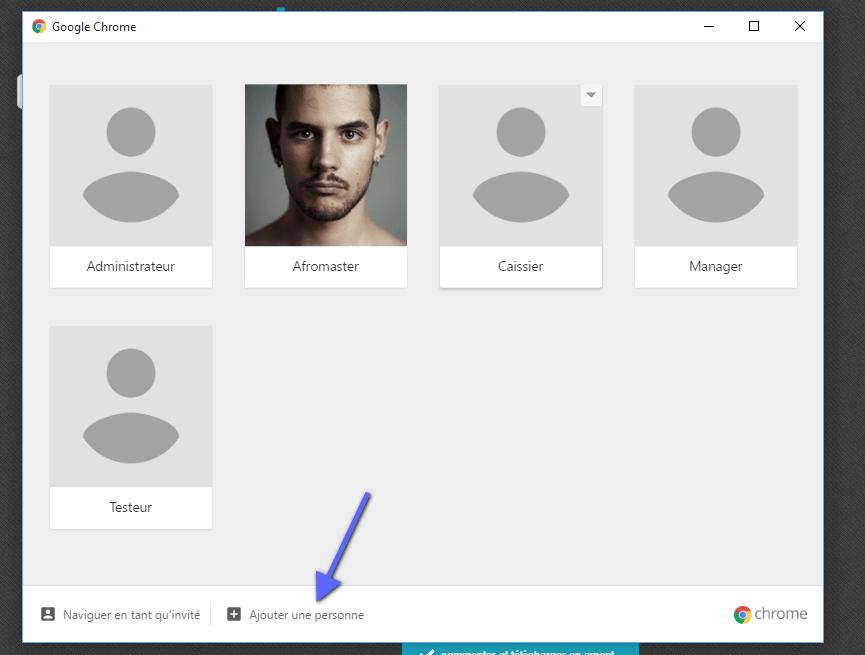 ajouter un nouvel utilisateurs google chrome