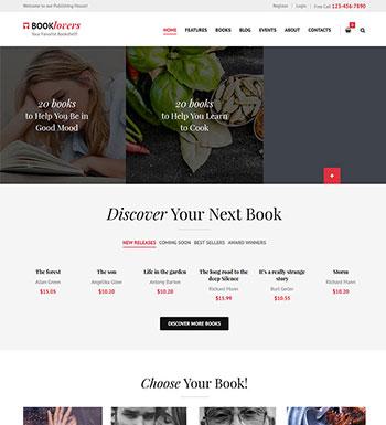 Booklovers – Un Thème Pour Vendre Des EBooks