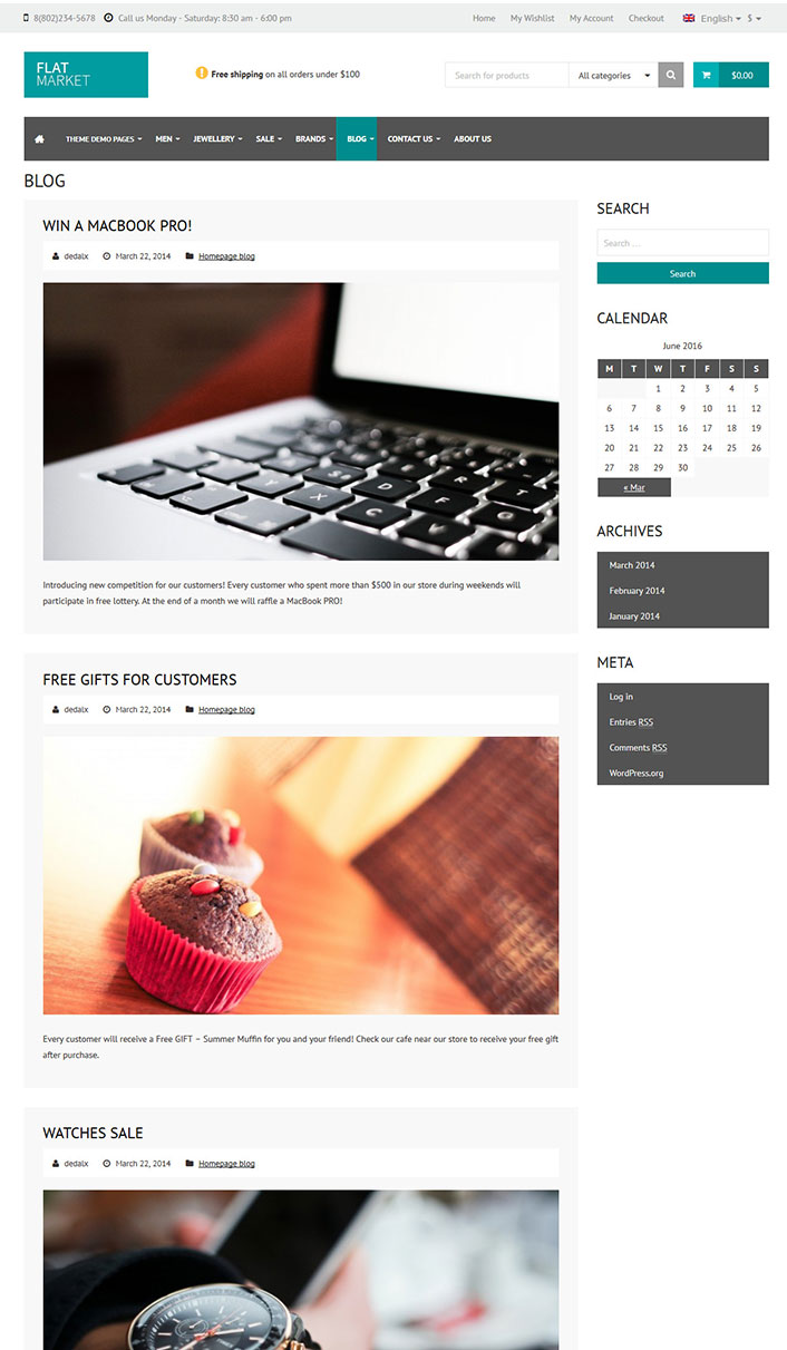flatmarket un th me woocommerce pour cr er une boutique sur internet blogpascher. Black Bedroom Furniture Sets. Home Design Ideas