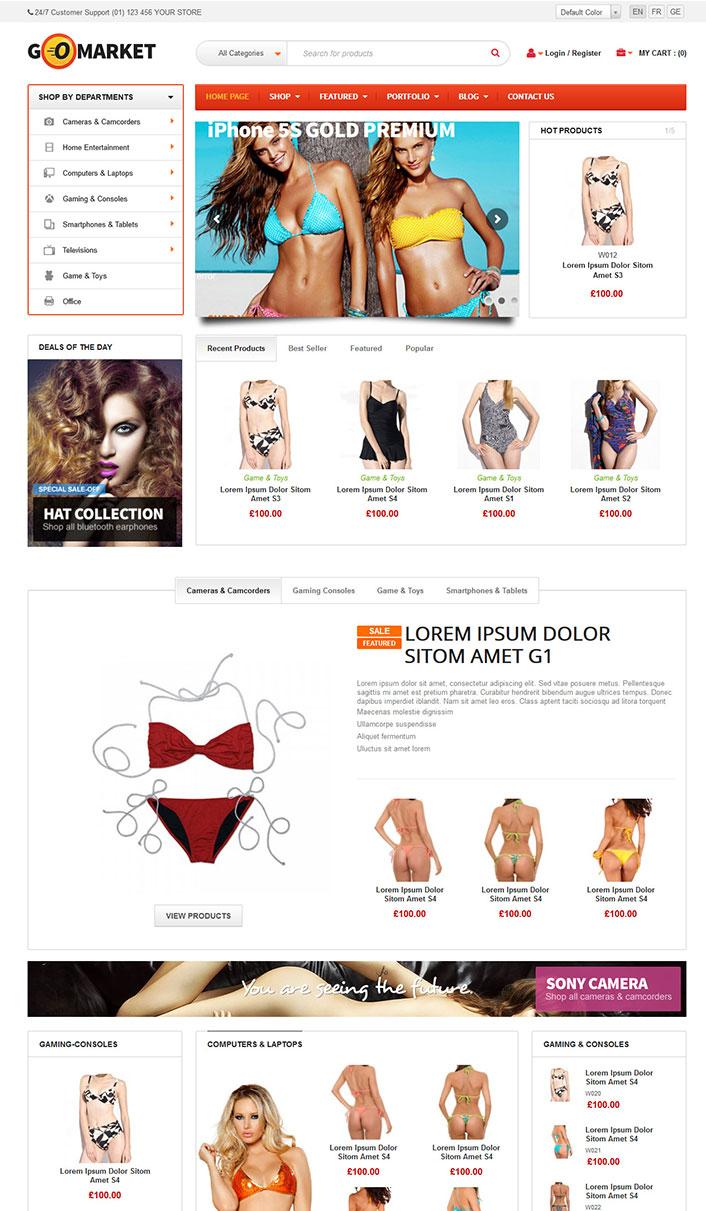 GoMarket - ein Wordpress-Theme Wäsche verkaufen | BlogPasCher