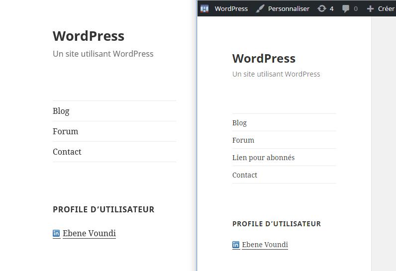 menu d'abonne WordPress if menu plugin