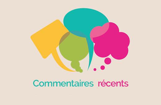 Página de comentários recente do WordPress