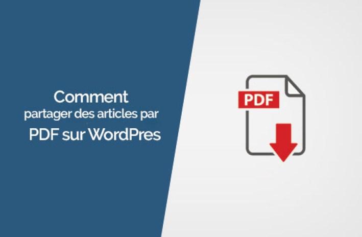 télécharger les fichiers au format PDF sur WordPress