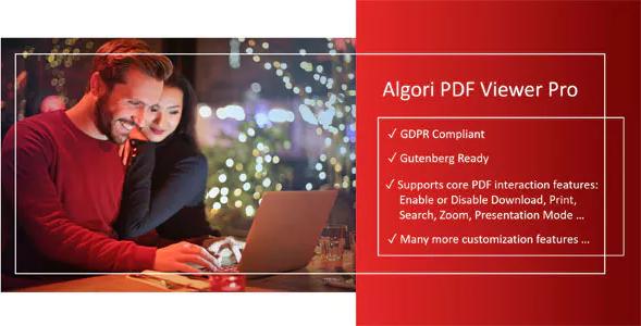 Algori PDF Viewer Pro for WordPress Gutenberg