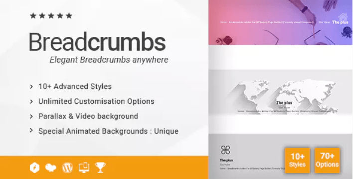 Breadcrumbs addon for wpbakery page builder plugin wordpress
