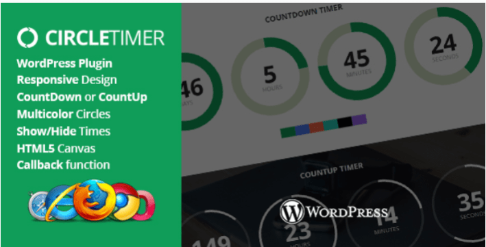Circletimer jquery countdown timer wordpress plugin