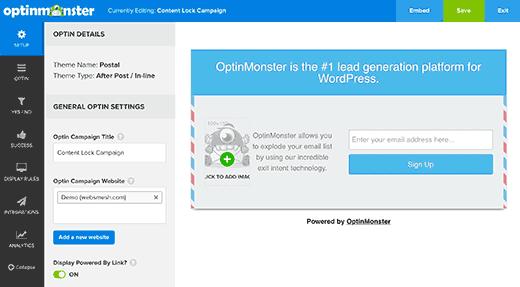 Constructeur Optin Monster