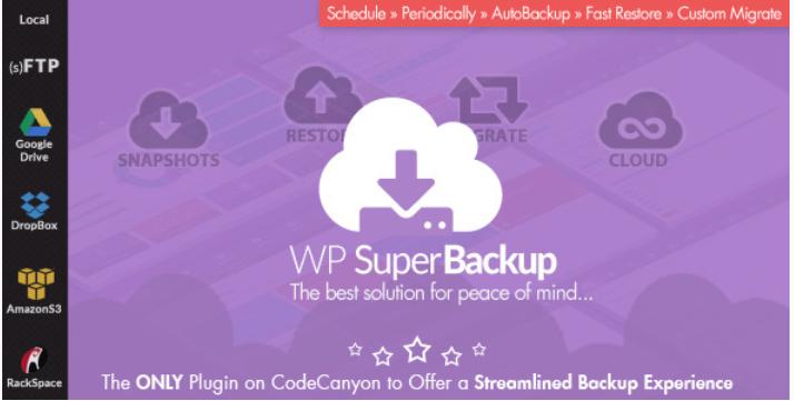 meilleurs plugins WordPress - Super backup clone migrate