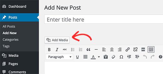 ajouter un nouveau media WordPress