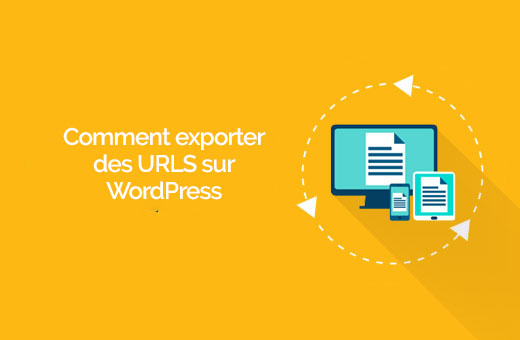 export all URL WordPress