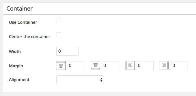 maxbuttons-options du conteneur