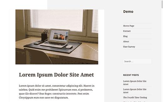 nouvelle présentation site web sidebar déplacée