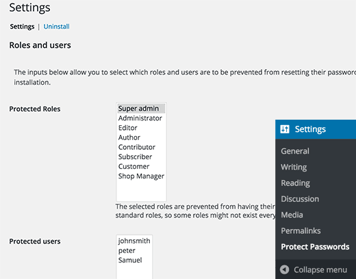 plugin de proteção de senha WordPress