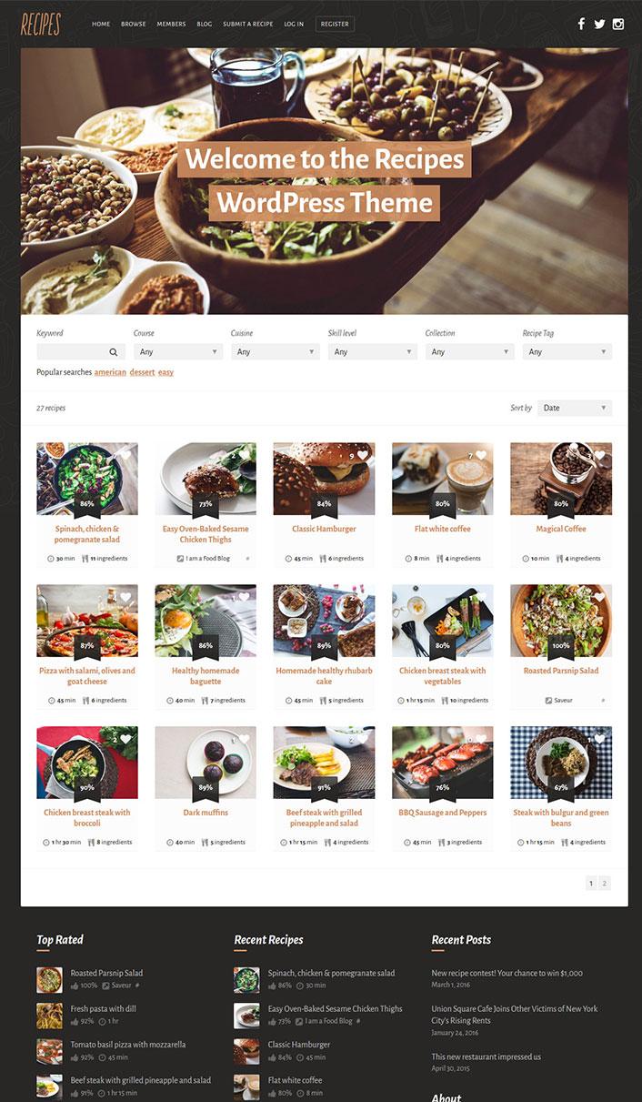 site de recherche de recette de cuisine un site culinaire populaire avec des recettes utiles. Black Bedroom Furniture Sets. Home Design Ideas