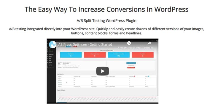 Ab press optimizer plugin wordpress test ab