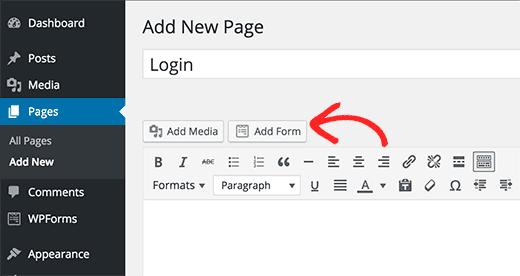 WPFOrms formu ekleme