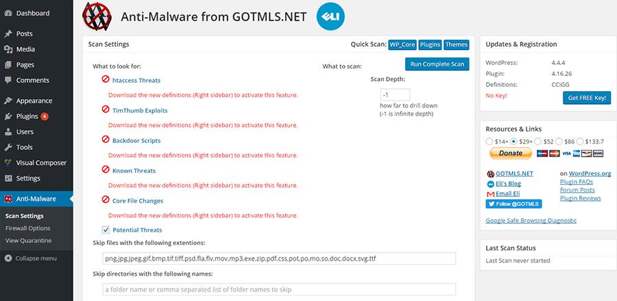 Anti-Malware-GOTMLS plugin WordPress