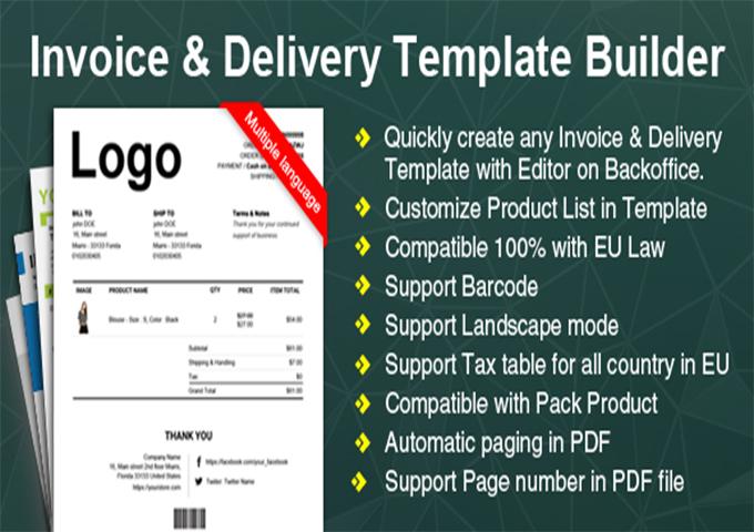 10 plugins woocommerce pour gnrer des factures pdf blogpascher invoice delivery template builder est un plugin woocommerce dont la prise en main ne ncessite aucune connaissance technique particulire fandeluxe Choice Image