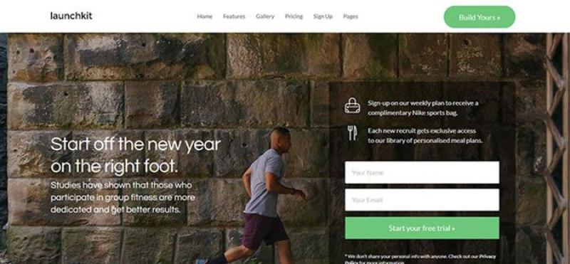 Launchkit 10 themes wordpress pour site web de club de yoga blogpascher