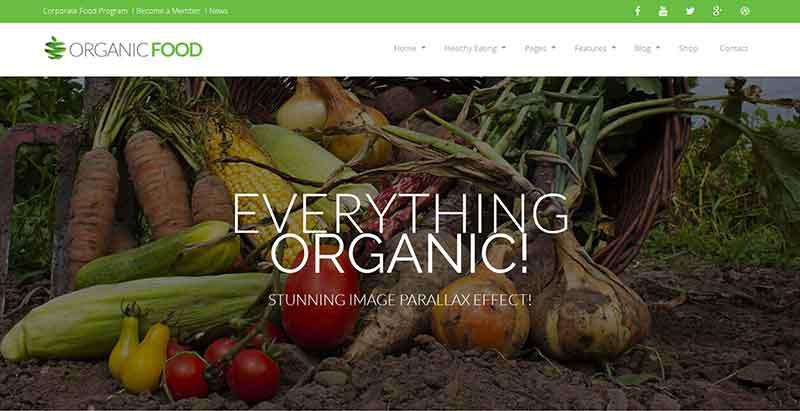meilleurs thèmes WordPress de fermier - Organic food