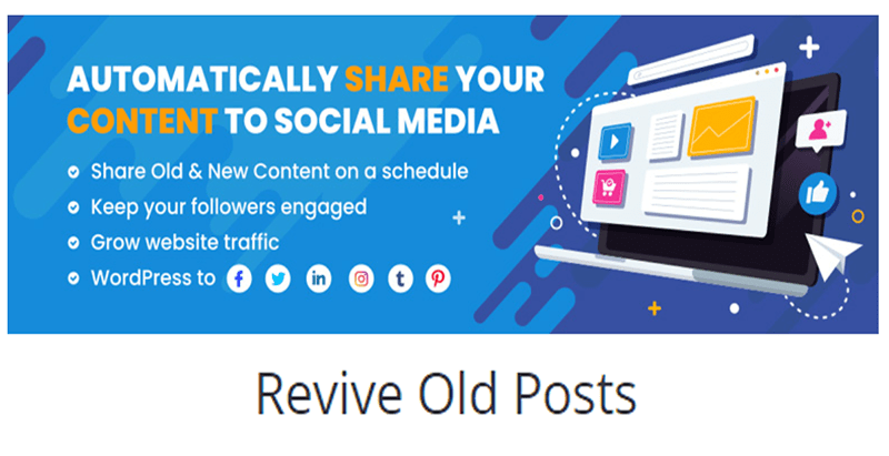 Revive old posts plugin wordpress publicité