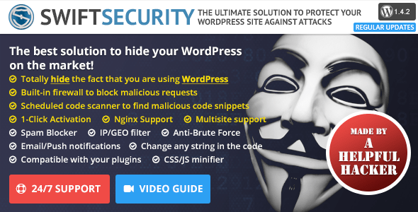 Swift Security Bundle - Hide WordPress, Firewall, Code Scanner