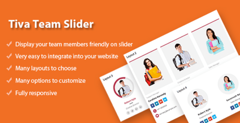 Tiva team slider cho wordpress