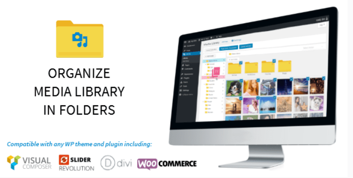 WP Media File Manager WordPress Media Library Folders Categories Upload Plugin