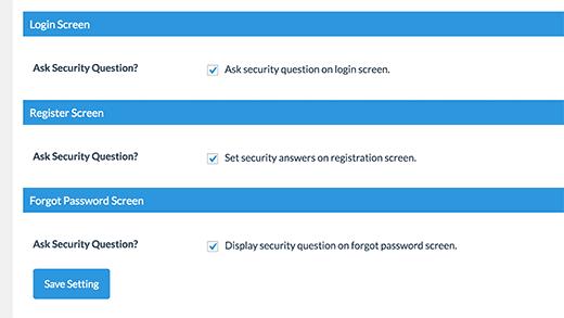 configuration de la récupération de mots de passe WordPress